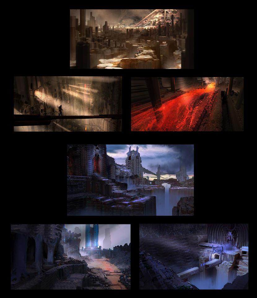Wolrdbuilding Thumbnails II by fmacmanus