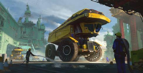 Inflatable Dump Truck 02B