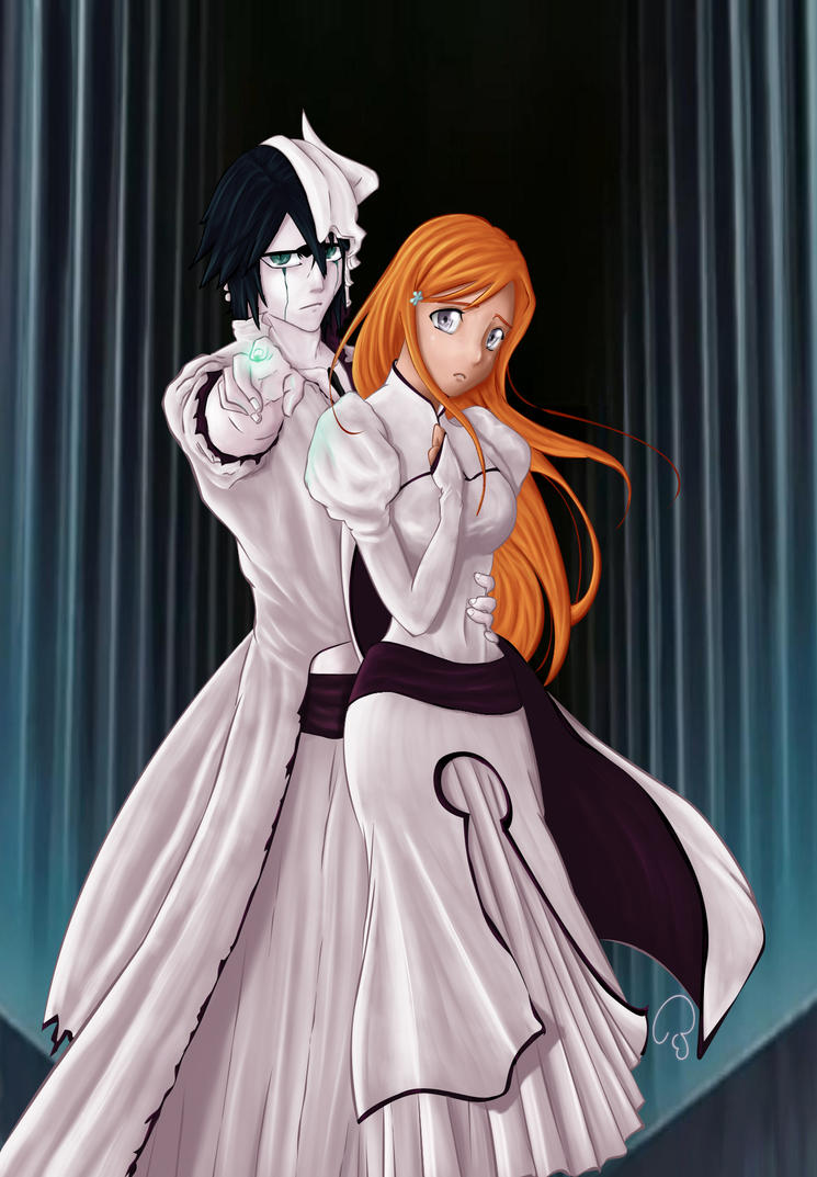 Ulquiorra and Orihime by Selexia1