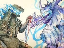 Godzilla vs Tyrant by Kenshin3107