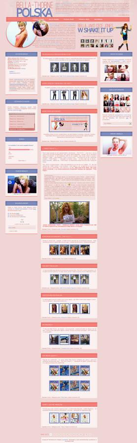 Bella Thorne wordpress layout