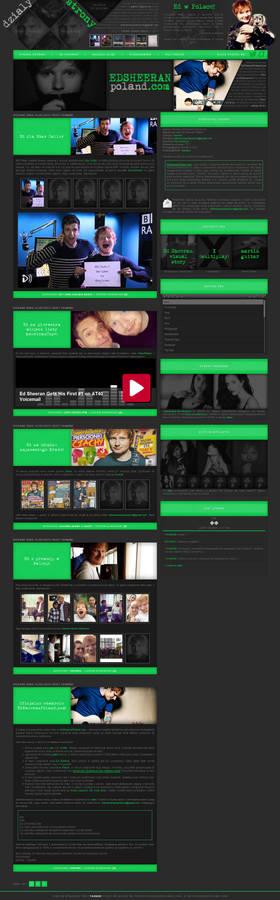 Ed Sheeran wordpress theme