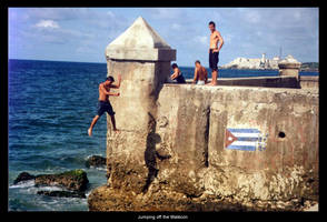 Jumping off the Malecon