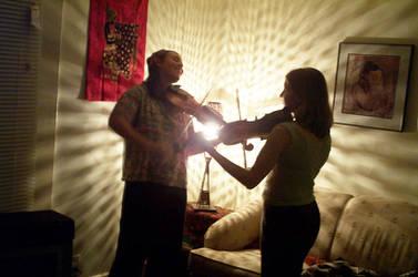 Fiddlers in light-color