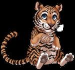 the cuddliest tiger by Nushaa