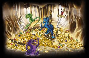 Treaure Cave - 3 happy dragons