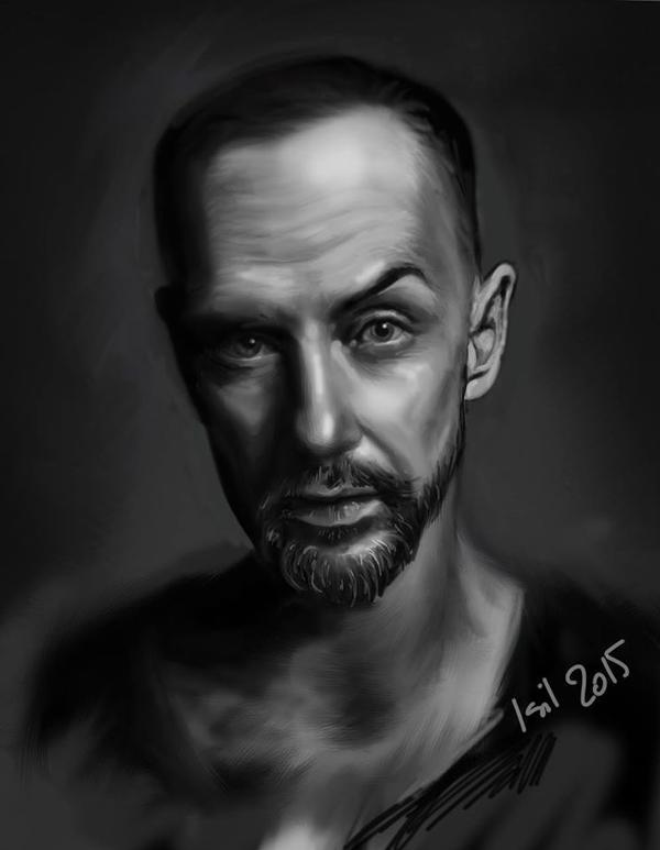 Digital portrait - Nergal by isil89