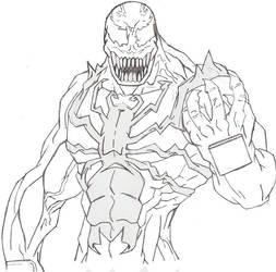 Venom Lineart by noname37