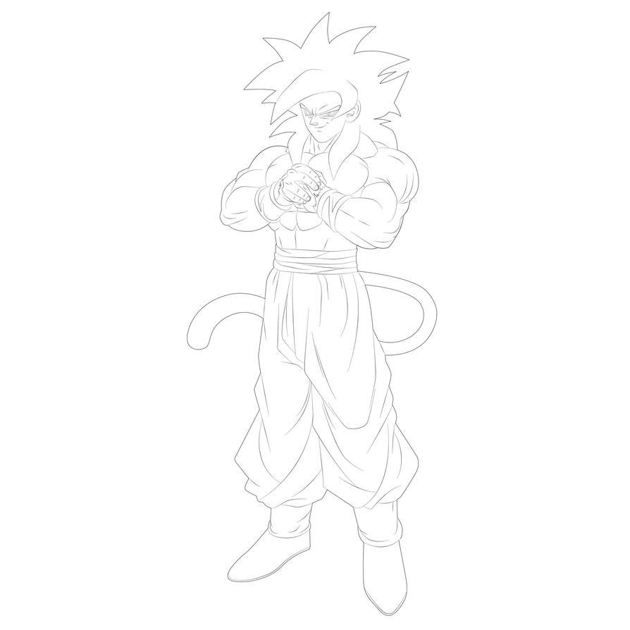 Goku Y Vegeta Ssj4 Para Pintar Resultado De Imagem Para Desenho Para