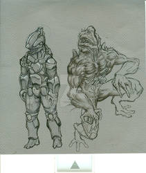 creature and soldier ideation