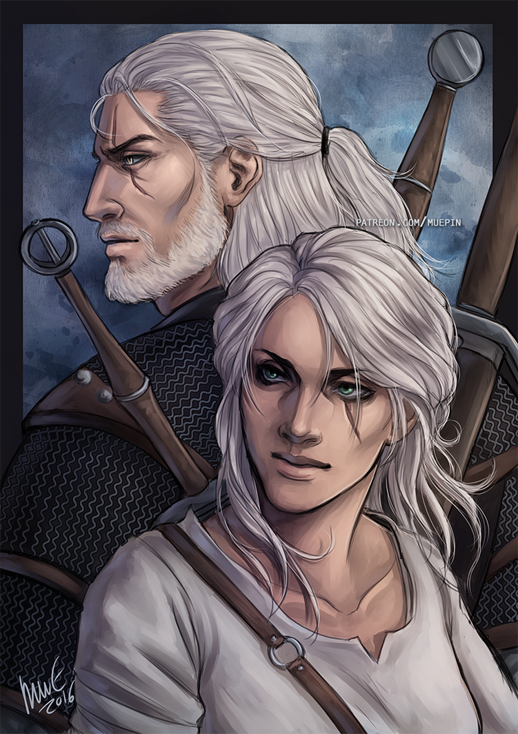 Geralt and Ciri - Witcher 3 by muepin