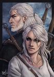 Geralt and Ciri - Witcher 3