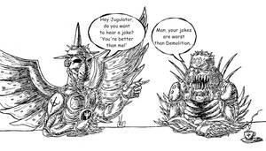 Painkiller's bad jokes