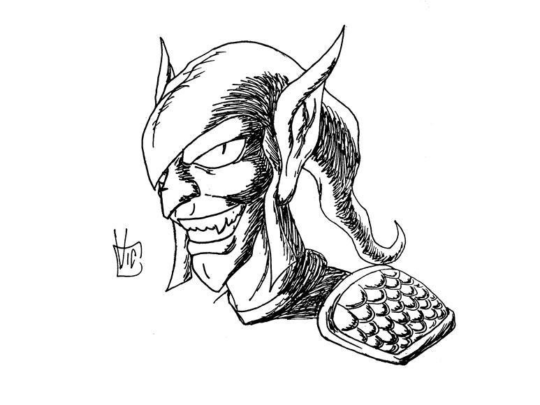 Green Goblin -face 2