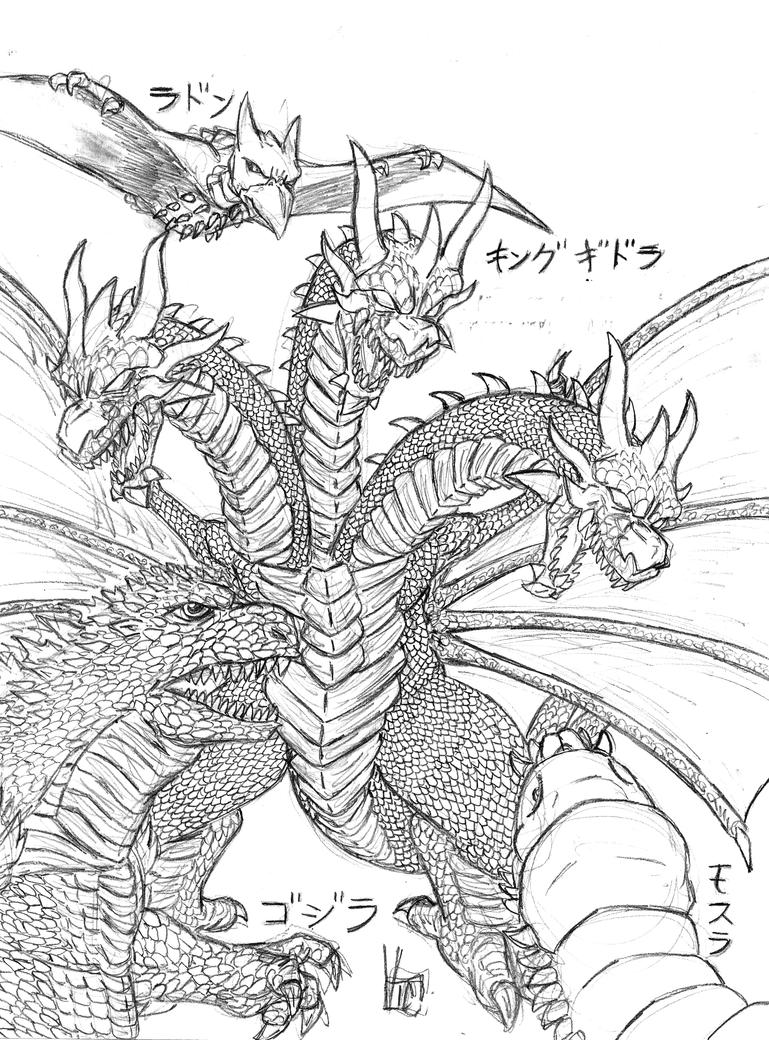 Excepcional Godzilla Para Colorear Fotos - Dibujos Para Colorear En ...