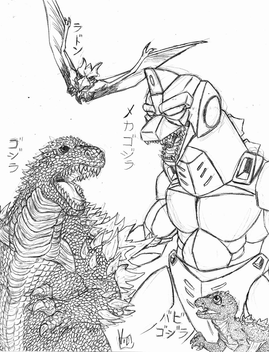 Space Godzilla Coloring Pages. ultimate space godzilla coloring page ...