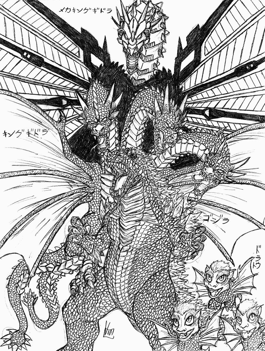 Godzilla vs King Ghidorah by Metallian1990 on DeviantArt