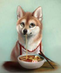 shibe snack by kitfaced