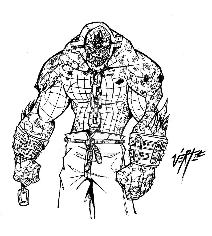 Killer croc comission by its a mario time on deviantart for Killer croc coloring pages