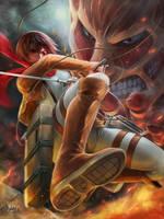 Mikasa Ackerman by NOPEYS