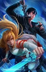 Kirito and Asuna by NOPEYS
