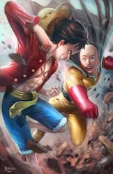 Saitama VS Luffy