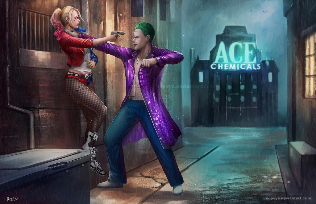 Harley vs Joker by NOPEYS