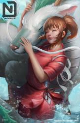 Chihiro and Haku by NOPEYS