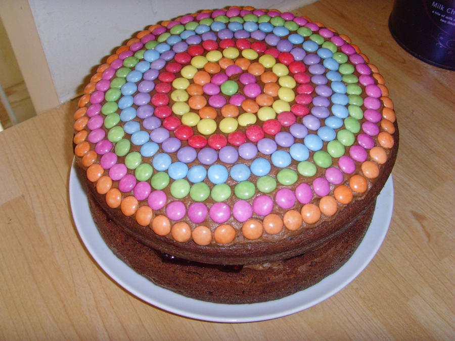 Chocolate Finger Cake With Smarties