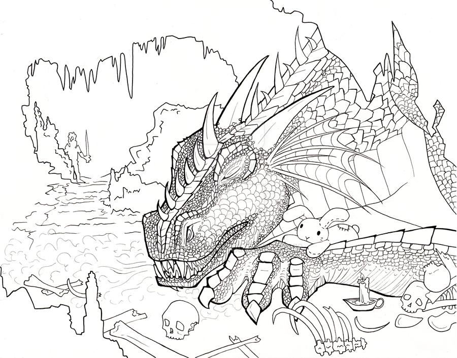 Dragon Line Drawing By Eirescei On DeviantArt