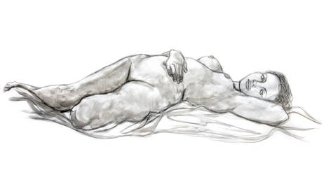 Reclining Woman by Eirescei