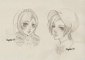 Andrea and Aless by Saganu
