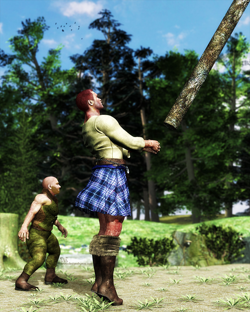 Caber Toss- for Bremerial by DesignsByEve