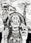 Native American Blind Old WOman