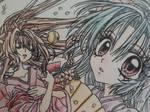Asagiri and Sakura - Sakura-hime Kaden