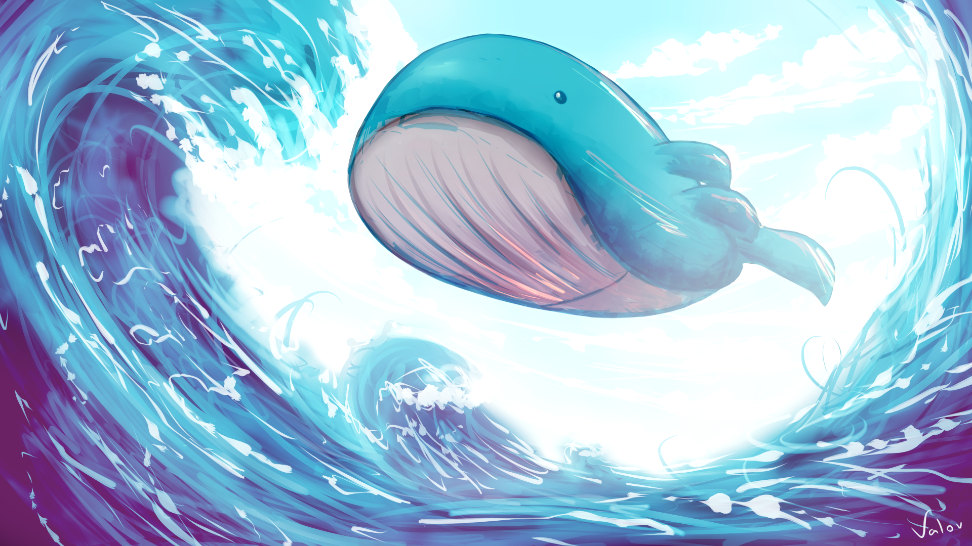Flying Wailord! by jkz123pl on DeviantArt Wailord Wallpaper