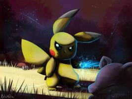 Evil Pika Pikachu by jkz123pl