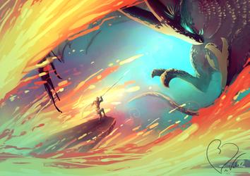Dragon Fight by jkz123pl