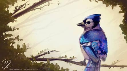 Good morning! ~ bird speedpaint by jkz123pl