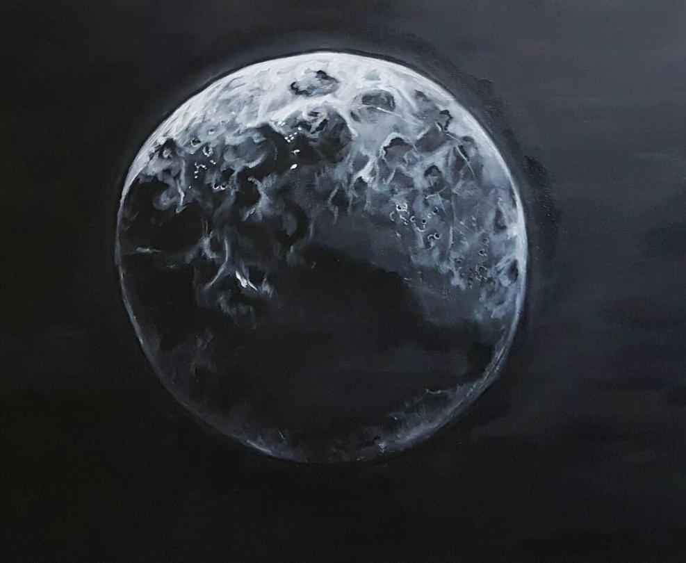 Moon by oilpastelpainting
