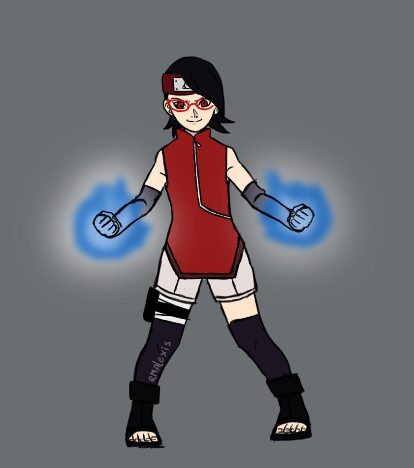Sarada ready for the fight! (2/4) by RMAlexis