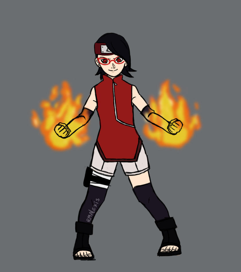 Sarada ready for the fight! (3/4) by RMAlexis