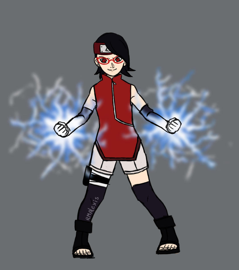 Sarada ready for the fight! (4/4) by RMAlexis