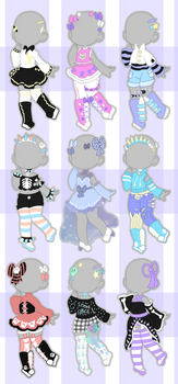Pastel Outfit Adopts (closed)