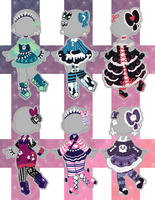 ON SALE Goth Outfit Adopts (closed) by Horror-Star