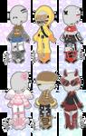 F2U Stock Outfits (Set 1)