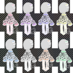 F2U Pastel MultiHue Stock Outfit (1) by Horror-Star
