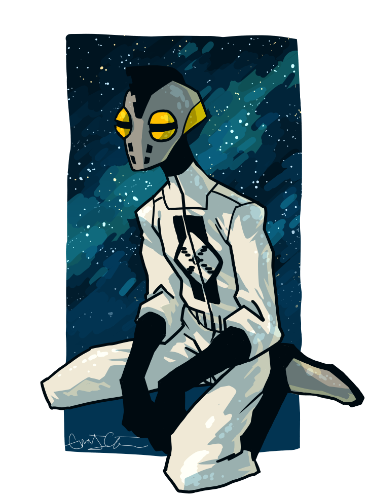 sitting in space by Underbase