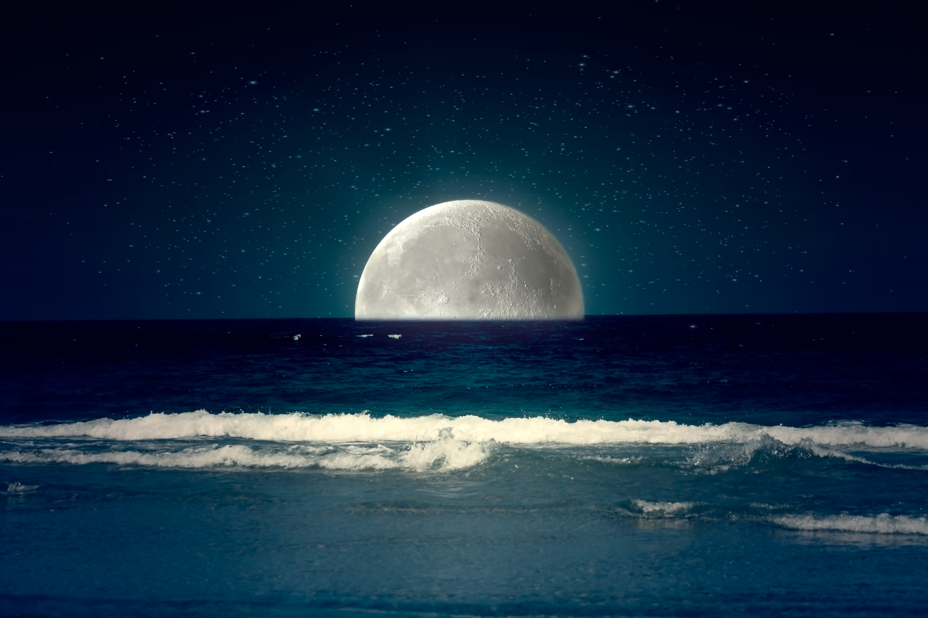 Sea Night BackGround by RedHeadLilith on DeviantArt