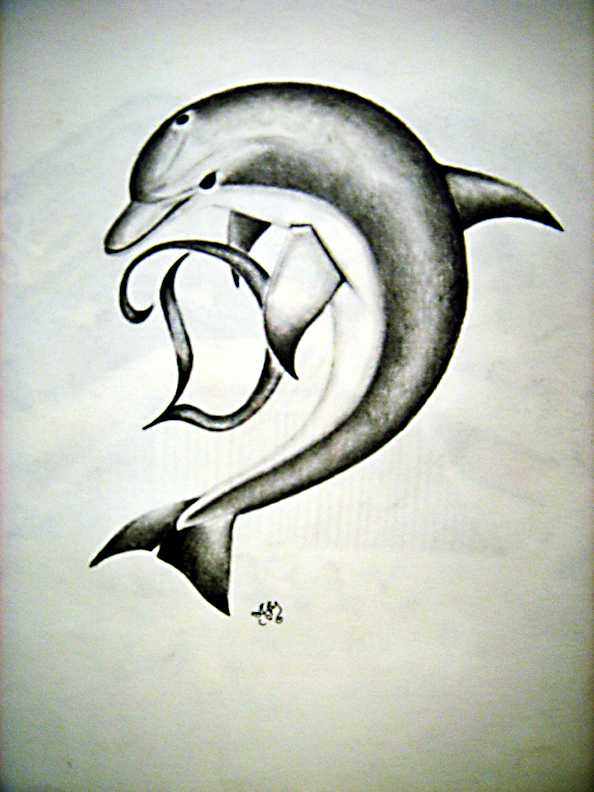 Dolphin Tattoo Drawings Images